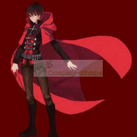 RWBY Ruby Red Male Version Cosplay Costume