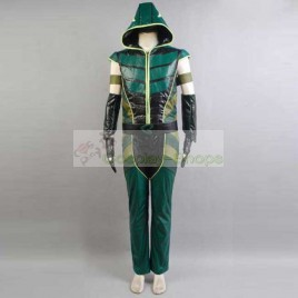 Smallville Justice League Green Arrow Cosplay Costume