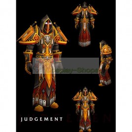 World of Warcraft WOW Judgement Paladin Tier 2 Full Outfit Cosplay
