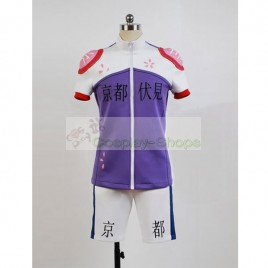 Yowamushi Pedal Kyoto Fushimi members Midousuji Akira Bicycle Race Suit Cosplay Costume