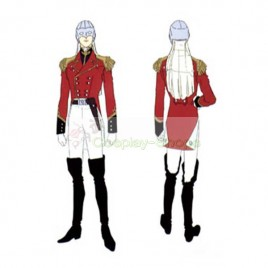 Mobile Suit Gundam Wing Zechs Merquise Cosplay Costume