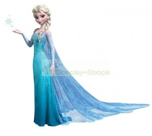 Frozen Snow Queen Elsa Dress Corset with Diamonds Cosplay Costume