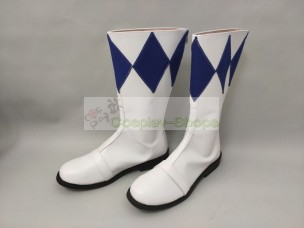 Mighty Morphin Power Rangers Blue Ranger Dan Tricera Ranger Shoes Boots Cosplay