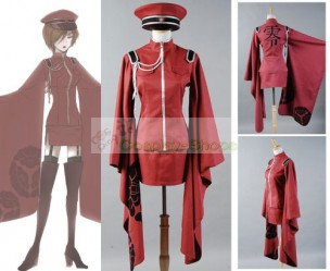 Vocaloid Meiko Senbon Sakuras Cosplay Costume Dress Uniform