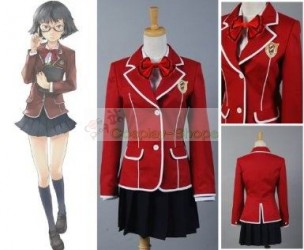 Guilty Crown Hare Menjou School Uniform Cosplay Costume