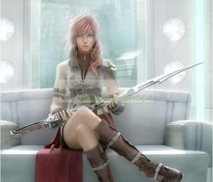 FF13 Final Fantasy XIII 13 Lightning Gunblade Sword Cosplay Prop