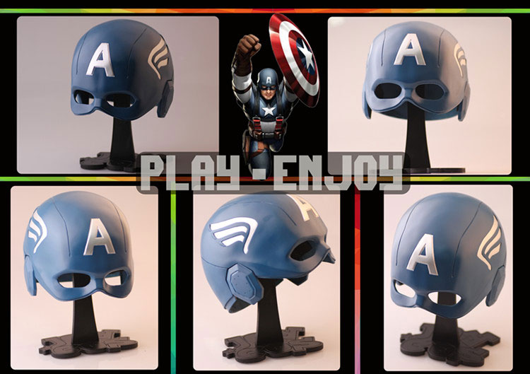 The Avengers Captain America Cosplay Helmet