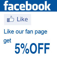 Like our Facebook get 5% OFF discount